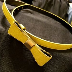 Sweet little yellow and gold belt.